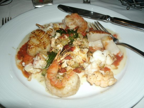 Top of the World Restaurant at the Stratosphere : Prawns, scallops and lobster