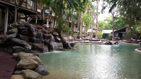 Ramada Resort Port Douglas: tropical pool with inbuilt waterfall
