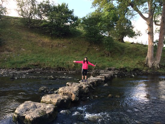 Aysgarth Falls: Crossing one of the rivers