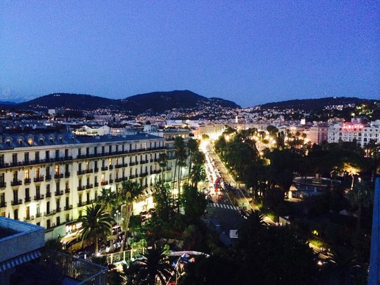 Le Meridien Nice : View from our top floor City View Room