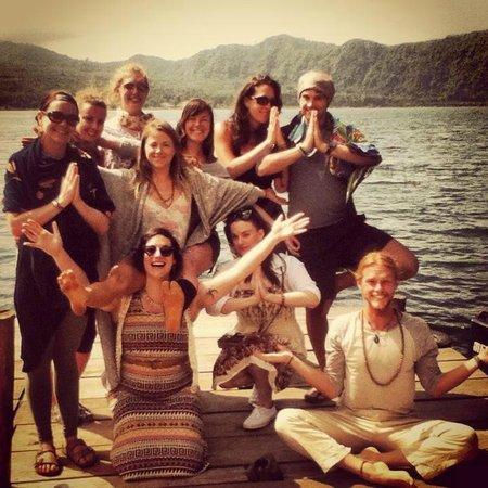 Mystical Yoga Farm: TTC group photo on the dock 2014