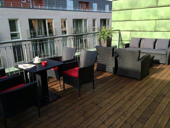 Scandic Solsiden: Roof top balcony