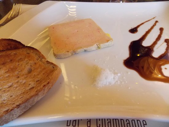 foie gras au vinaigre de champagne photo de la banque pernay tripadvisor. Black Bedroom Furniture Sets. Home Design Ideas