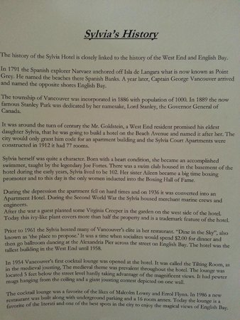 Sylvia Hotel: History of Hotel