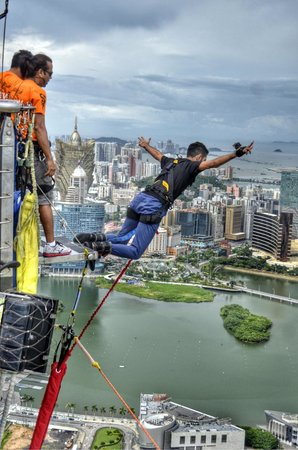 The world's highest bungy jump, amazing experience worth trying!!!