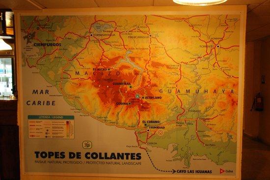 Map of Topes de Collantes