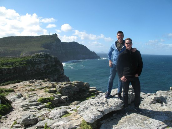 The Cape Town Tour Guide Co.: Matt and Byron at the Cape of Good Hope - one of many pics Clive took for us
