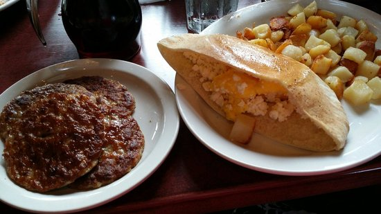 Pano's Restaurant: The Fix - Scrambled Eggs with Feta, side of sausage