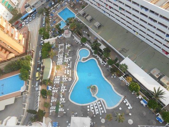 Poseidon Resort: vísta de la piscina desde la habitación