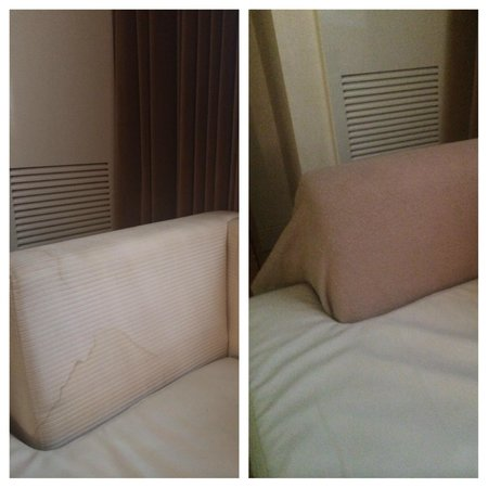 Wyndham Midtown 45 : couch badly water stained / housekeeping covered it