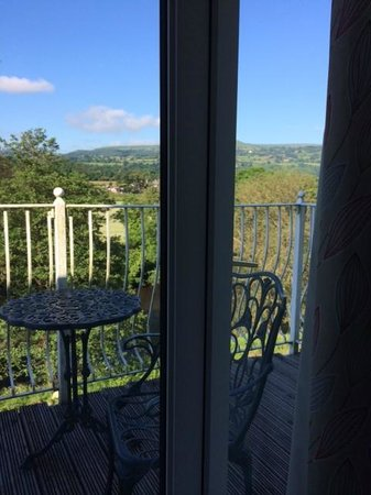 Llanwenarth Hotel & Riverside Restaurant: this is the view we woke to every morning