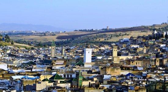 Dar Anebar : De la terrasse, vue sur une partie de la médina.