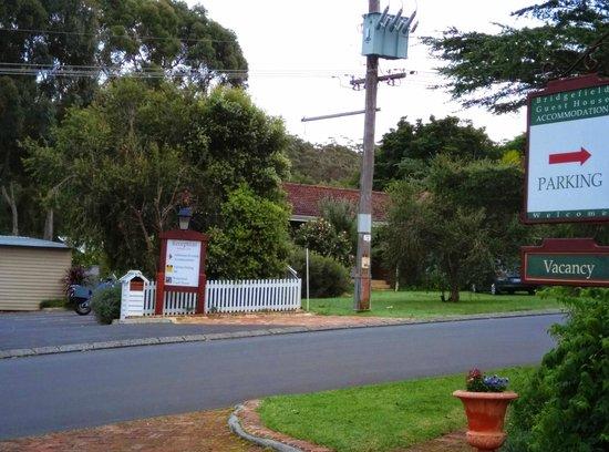 Bridgefield Guest House: Registration across the street