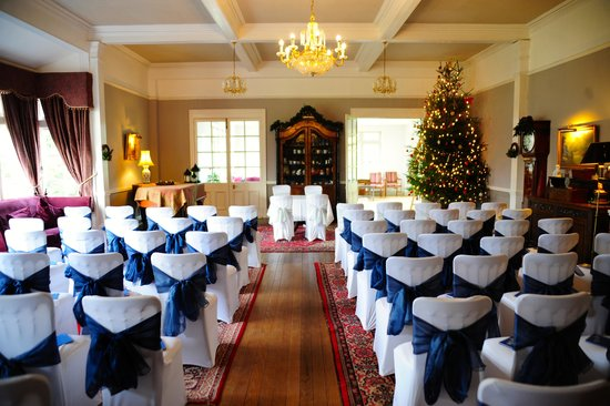 The Lake Country House & Spa: The Lounge transformed for the ceremony