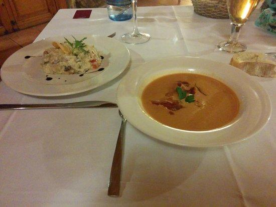 BlueSense Sierra Madrid: Primer plato
