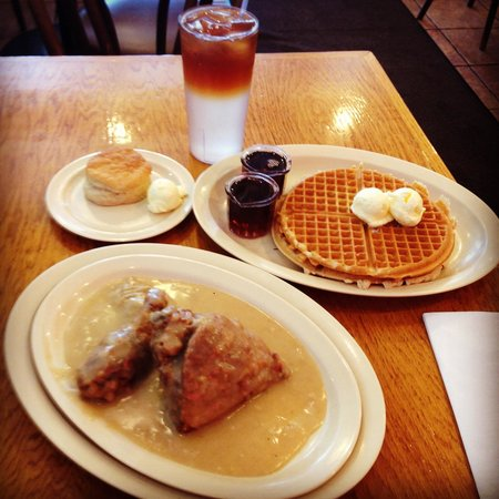 Roscoe's House of Chicken & Waffles: Fried Chicken. Waffles. Biscuit. Gravy. Oh yeah.