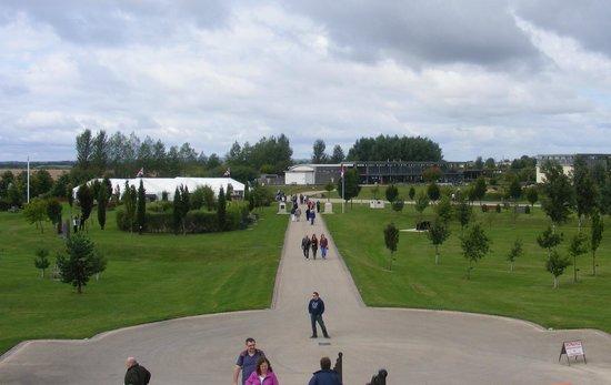 National Memorial Arboretum : view of arboretum from the memorial looking towards the entrance.