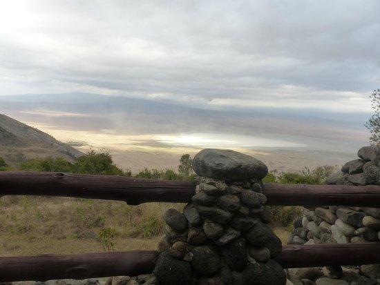Ngorongoro Serena Safari Lodge : vue de la chambre sur le cratere