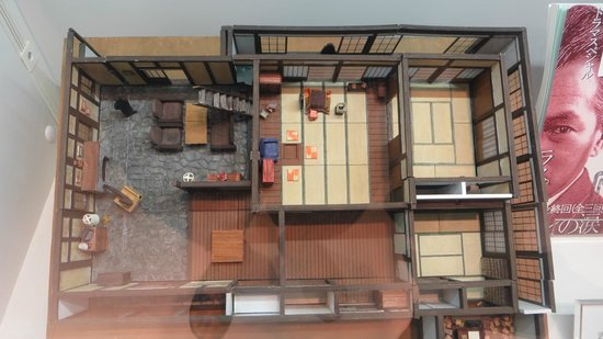 Top view of old japanese house picture of nhk studio for Classic japanese house