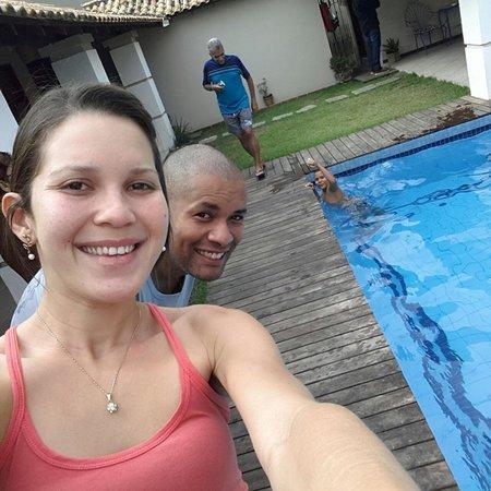 Pousada Geriba Palem: Área da piscina de manhã...