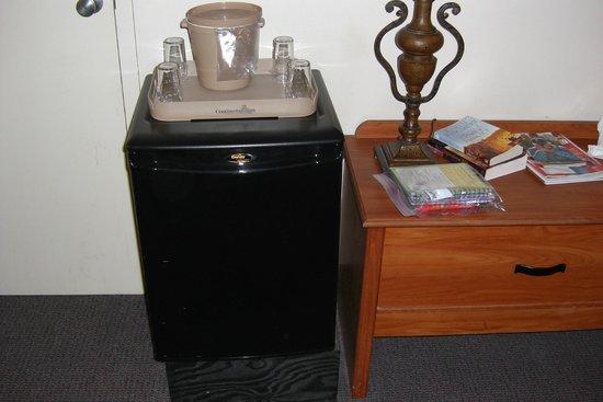Continental Inn: Room refrigerator