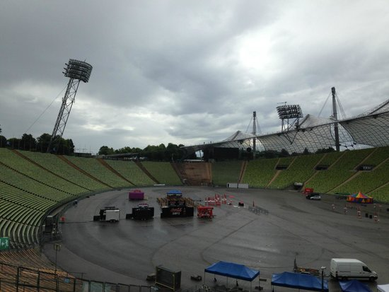 Flying Fox: A view of the zipline across the stadium