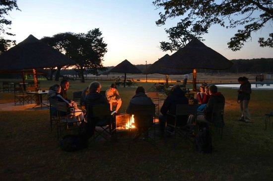 Hwange Safari Lodge: Sunrise when the power went out in the hotel