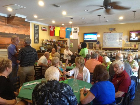Harvest Moon Low Country Grill: Large group this month