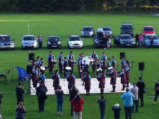 Fonab Castle Hotel: Pipe band and dancers every Monday night