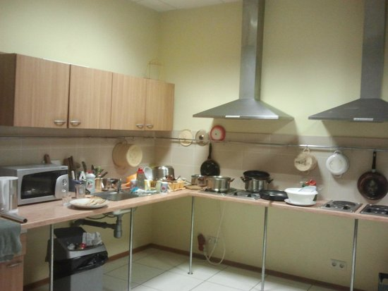 Fortuna Hostel: The kitchen