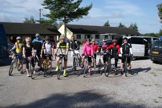 Cyclists refreshed and ready for day 3 after enjoying great hospitality at the Yorkway Motel!