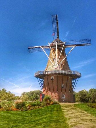 Windmill Island Gardens: Windmill Island - De Zwaan Windmill (August 2014)