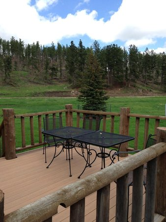 High Country Guest Ranch: Cabin Veranda