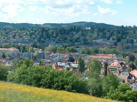 Drei Weieren: green around St gallen