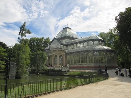 Palacio De Cristal: palazzo di cristallo , madrid, spain
