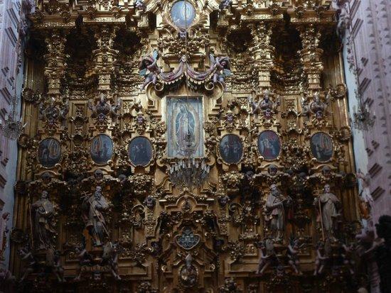 Santa Prisca de Taxco: Интерьер