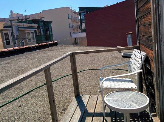 Sleep Over Sauce: Haight room rooftop patio