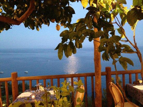 Costa Diva Restaurant: Délicieux souper sous les citronniers !