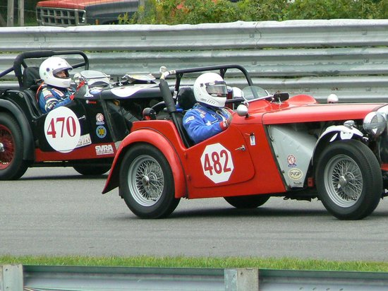 Lime Rock Park: MGs on the Sam Posey Straight
