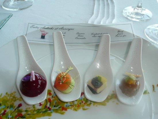 Hotel Restaurant Regis & Jacques Marcon : les cuilleres aperitives , entre autres