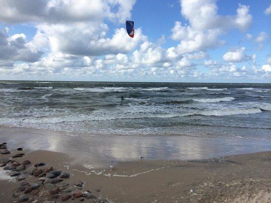 Palanga, Lituania: Kite surfer