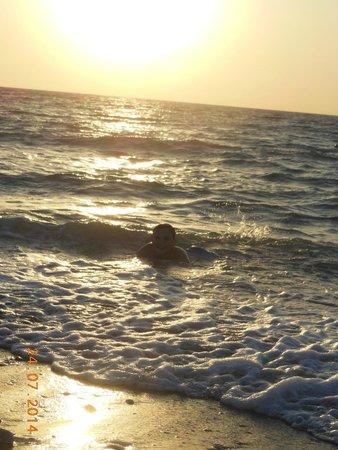 Sabina Hotel : день прилета на пляже