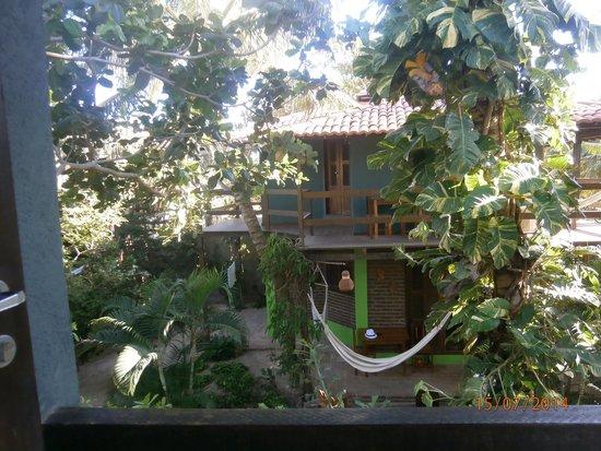 Pousada Vila Bela Vista: les chambres avec hamac sur la terrasse