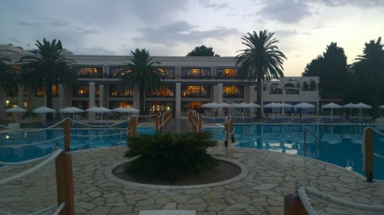 Mitsis Roda Beach Resort and Spa: View of rear of hotel