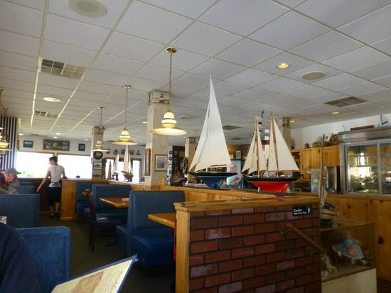 Navigator Restaurant : View from our table - boat models galore!