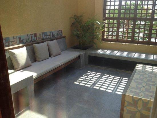 Kempinski Hotel Ishtar Dead Sea: The spacious suite terrace