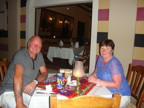 Jaz Mirabel Beach: my wife & i in the turkish restaurantbat jaz mirrabel