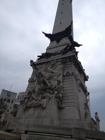 Colonel Eli Lilly Civil War Museum - Soldiers & Sailors Monument : Part of the base of the memorial