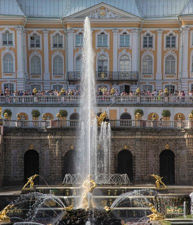 Palais de Peterhof : Grand Cascade Fountains
