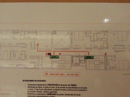 Sercotel Blue Coruña: Plano de las habitaciones interiores